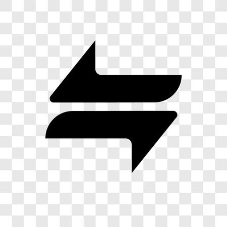 Trasferimento icona vettore isolato su sfondo trasparente, trasferimento trasparenza logo concept Transfer Logo