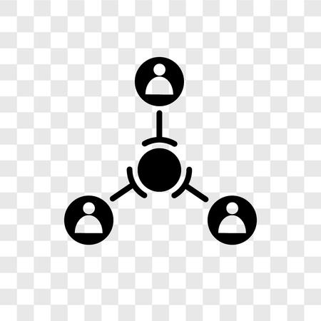 Icône de vecteur de structure hiérarchique isolé sur fond transparent, concept de logo de transparence structure hiérarchique Logo