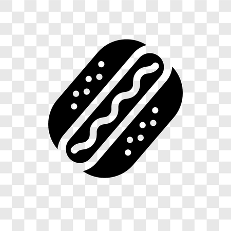 Hot Dog vector icon isolated on transparent background, Hot Dog transparency logo concept Illustration