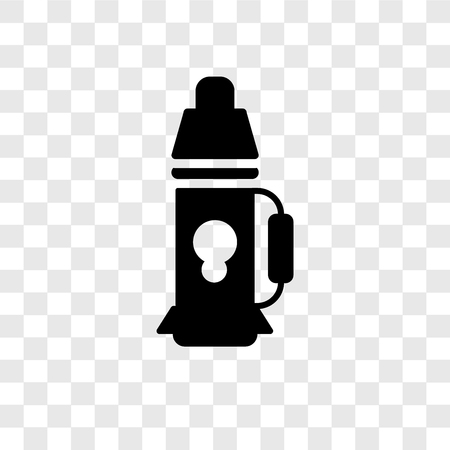 Flask vector icon isolated on transparent background, Flask transparency logo concept