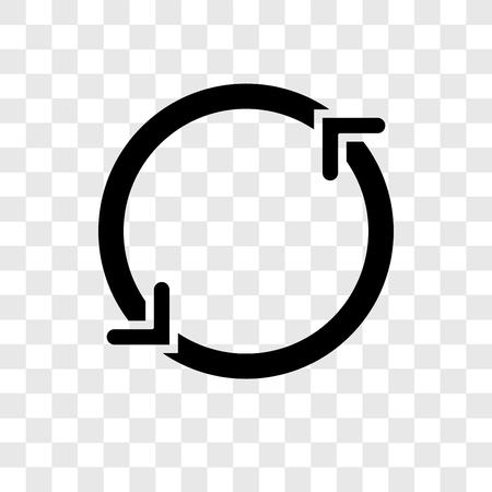 Icône de vecteur de rotation isolé sur fond transparent, concept de logo de transparence Spin Logo