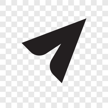 Cursor vector pictogram geïsoleerd op transparante achtergrond, Cursor transparantie logo concept