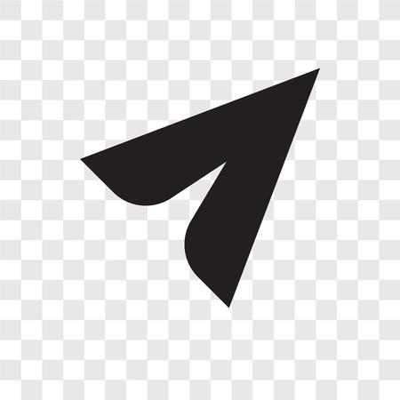 Icona di vettore del cursore isolato su sfondo trasparente, concetto di logo di trasparenza del cursore
