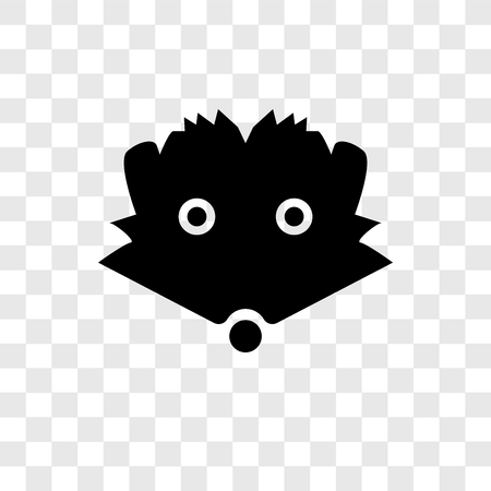 Hedgehog vector icon isolated on transparent background, Hedgehog transparency logo concept