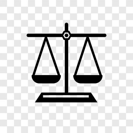 Icona di vettore di equilibrio isolato su sfondo trasparente, concetto di marchio di trasparenza di equilibrio Vettoriali