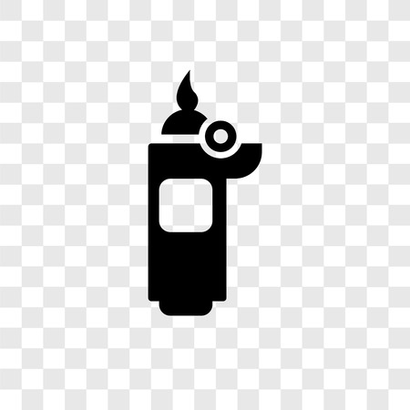 Lighter vector icon isolated on transparent background, Lighter transparency logo concept