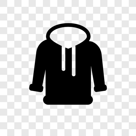 Hoodie vector icon isolated on transparent background, Hoodie transparency logo concept