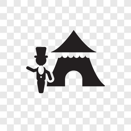 Ringmaster man vector icon isolated on transparent background, Ringmaster man transparency logo concept Illusztráció
