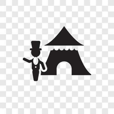 Ringmaster man vector icon isolated on transparent background, Ringmaster man transparency logo concept Illustration