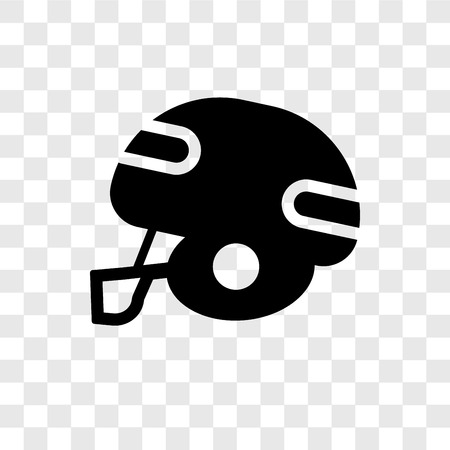 American football vector icon isolated on transparent background, American football transparency logo concept Illustration