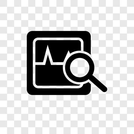 Icône de vecteur d'analyse isolé sur fond transparent, concept de logo de transparence Analytics