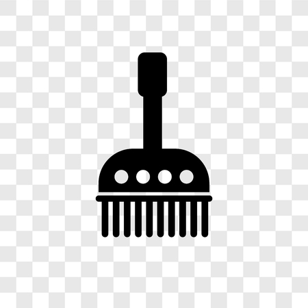 Brush cleanin vector icon isolated on transparent background, Brush cleanin transparency logo concept