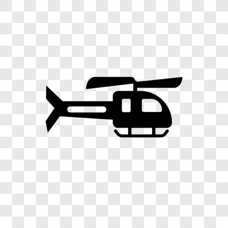 Helicopter vector icon isolated on transparent background, Helicopter transparency logo concept