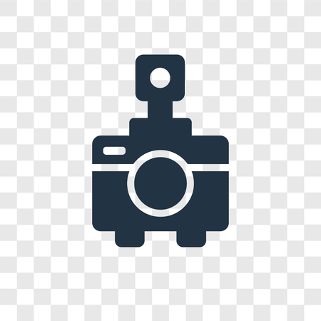 Photo Camera vector icon isolated on transparent background, Photo Camera transparency logo concept  イラスト・ベクター素材