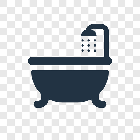 Shower vector icon isolated on transparent background, Shower transparency logo concept Archivio Fotografico - 112197621