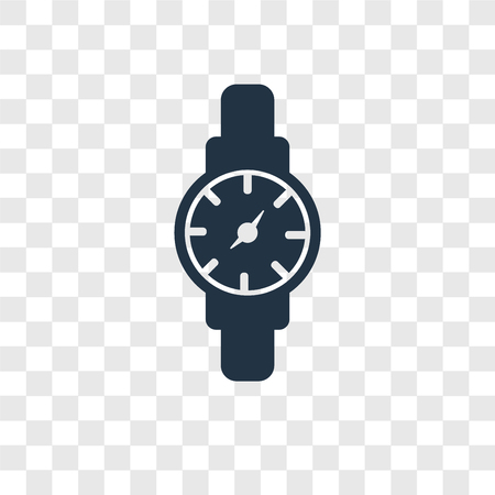 Watch vector icon isolated on transparent background, Watch transparency logo concept