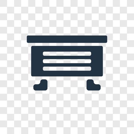 Dresser vector icon isolated on transparent background, Dresser transparency logo concept Illustration