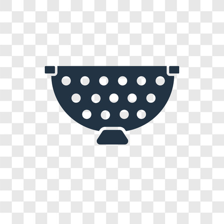 Strainer vector icon isolated on transparent background, Strainer transparency logo concept
