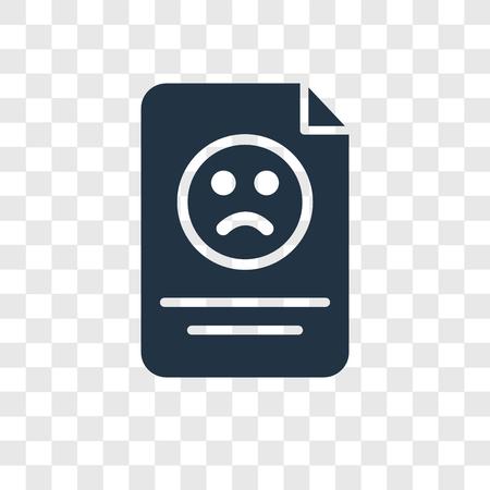 Reklamationsvektorsymbol auf transparentem Hintergrund isoliert, Reklamationstransparenz-Logo-Konzept