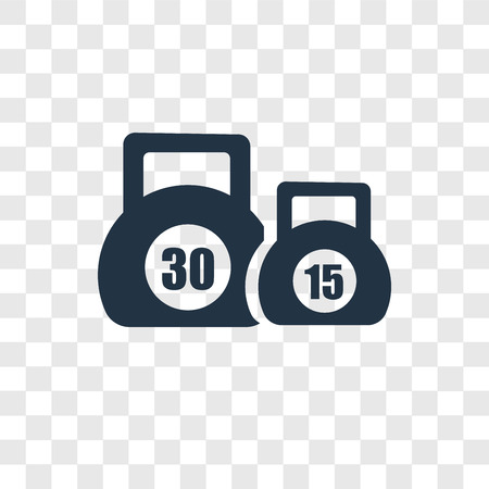 Kettlebells vector icon isolated on transparent background, Kettlebells transparency logo concept