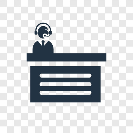 Commentator vector icon isolated on transparent background, Commentator transparency logo concept