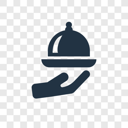 Food serving vector icon isolated on transparent background, Food serving transparency logo concept