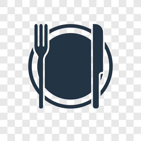 Dinner vector icon isolated on transparent background, Dinner transparency logo concept Standard-Bild - 112280727