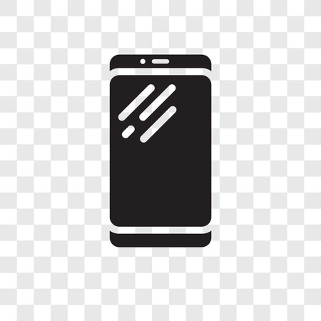 Smartphone vector icon isolated on transparent background, Smartphone transparency logo concept