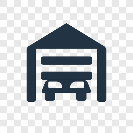 Garage vector icon isolated on transparent background, Garage transparency logo concept