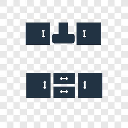 Gabinet wektor ikona na białym tle na przezroczystym tle, koncepcja logo przejrzystości gabinetu