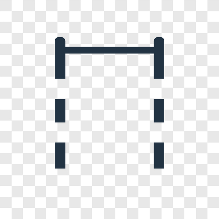 Pull up bar vector icon isolated on transparent background, Pull up bar transparency logo concept Illustration