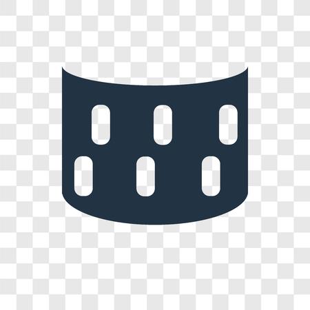 Icona di vettore di vista panoramica isolata su sfondo trasparente, concetto di logo di trasparenza di vista panoramica