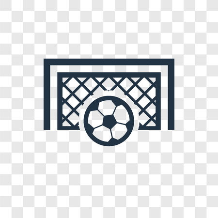 Goal vector icon isolated on transparent background, Goal transparency logo concept