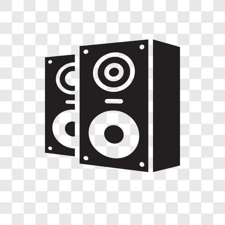 Speakers vector icon isolated on transparent background, Speakers transparency logo concept