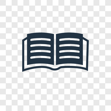 Open book vector icon isolated on transparent background, Open book transparency logo concept Illustration