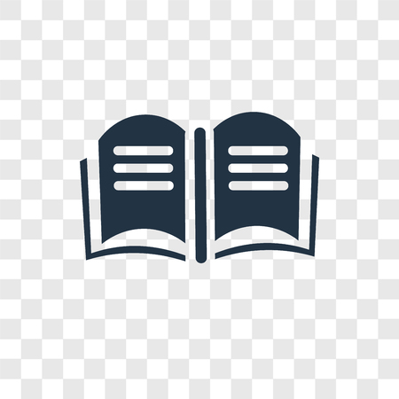 Open book vector icon isolated on transparent background, Open book transparency logo concept