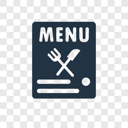 Menu vector icon isolated on transparent background, Menu transparency logo concept