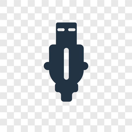 Pen Drive vector icon isolated on transparent background, Pen Drive transparency logo concept