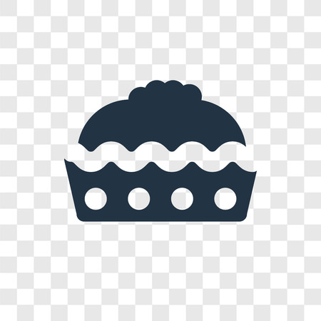 Pie vector icon isolated on transparent background, Pie transparency logo concept