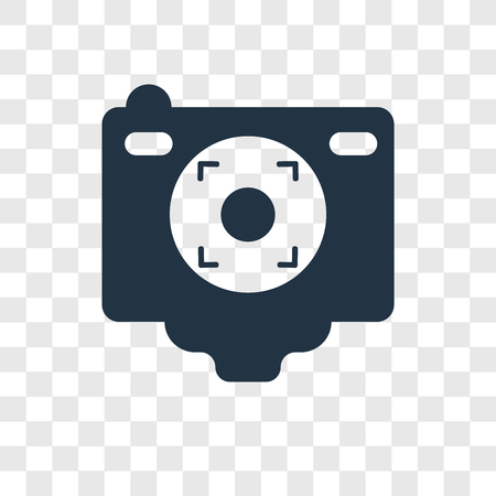 Camera Screen vector icon isolated on transparent background, Camera Screen transparency logo concept