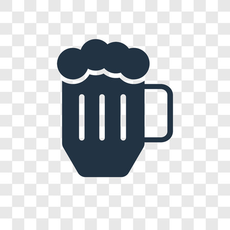 Beer vector icon isolated on transparent background, Beer transparency logo concept Standard-Bild - 112356599