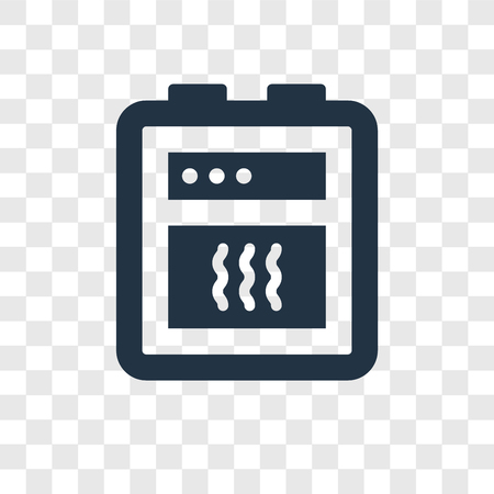 Oven vector icon isolated on transparent background, Oven transparency logo concept