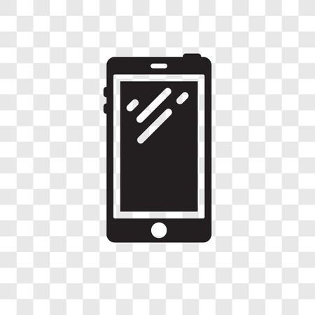 Smartphone vector icon isolated on transparent background, Smartphone transparency logo concept Illusztráció