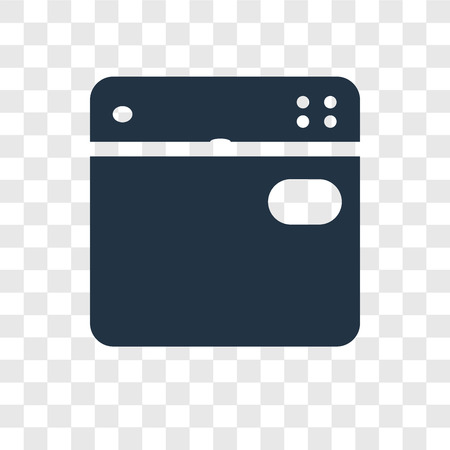 Dishwasher vector icon isolated on transparent background, Dishwasher transparency logo concept Standard-Bild - 112357202