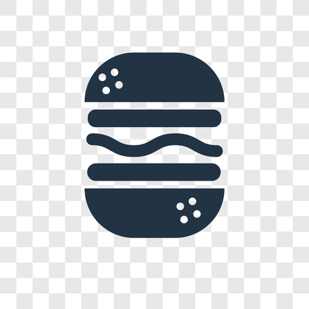 Burger vector icon isolated on transparent background, Burger transparency logo concept