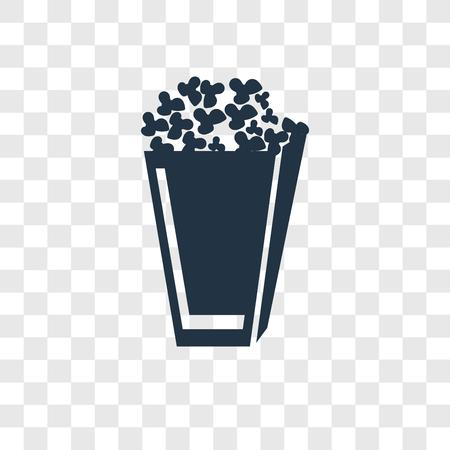 Icona di vettore di popcorn isolato su sfondo trasparente, concetto di logo trasparenza di popcorn Logo