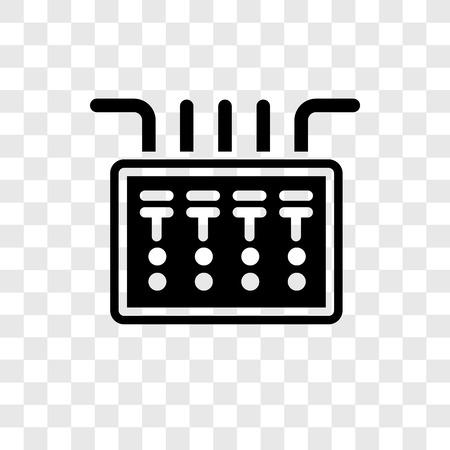 Icono de vector de caja de fusibles aislado sobre fondo transparente, concepto de logo de transparencia de caja de fusibles