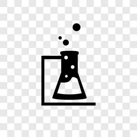 Icono de vector de matraz aislado sobre fondo transparente, concepto de logo de transparencia matraz