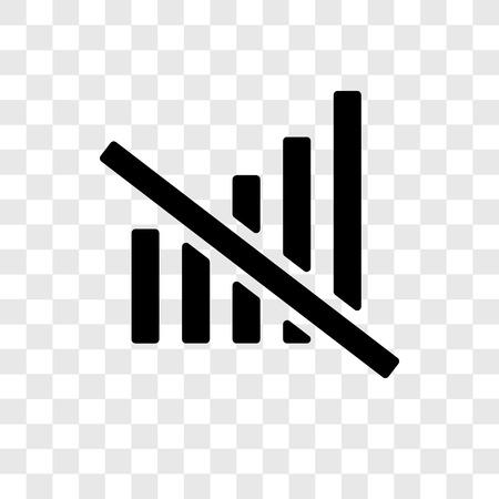 Nessuna icona vettoriale isolata su sfondo trasparente, nessuna trasparenza logo concept Logo