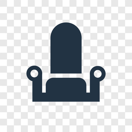 Throne vector icon isolated on transparent background, Throne transparency logo concept